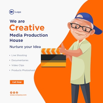 Banner design of creative media production house