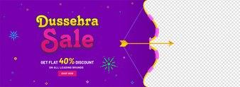 Banner design for Dussehra festival concept