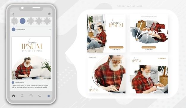企業およびエレガントなレイアウトでのソーシャルメディアのバナーデザイン