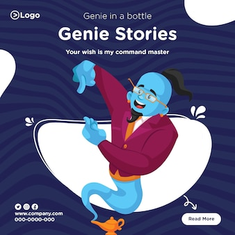 Banner design of genie stories template