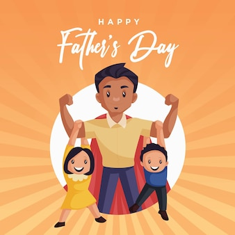 Banner design of happy fathers day template