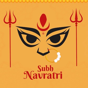 Banner design of indian festival subh navratri template