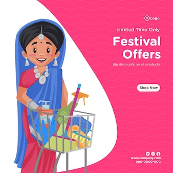 Banner design of limited time only festival offers