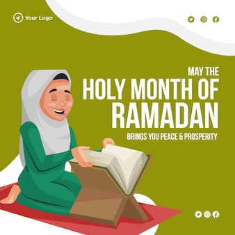 Banner design of may the holy month of ramadan