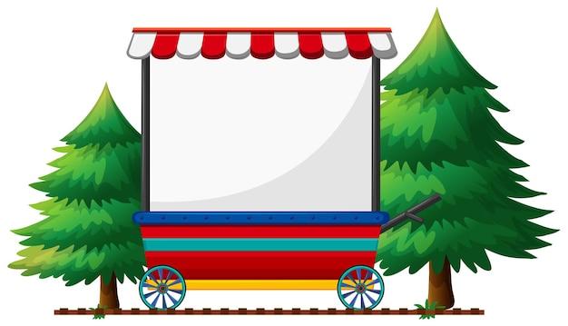 Banner design on mobile shop