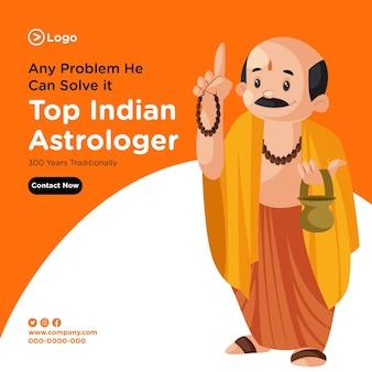 최고의 인도 점성가의 배너 디자인