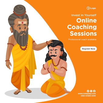 Banner design of online coaching sessions