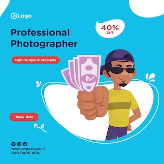 Banner design of professional photographer
