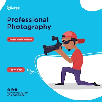 Banner design of professional photography