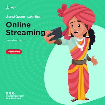 Banner design of queen of jhansi laxmibai online streaming