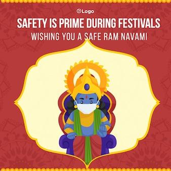 Banner design of safe ram navami