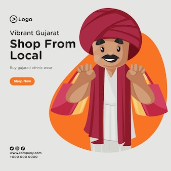 Banner design of shop from local