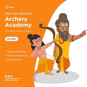 Banner design of take your best shot archery academy