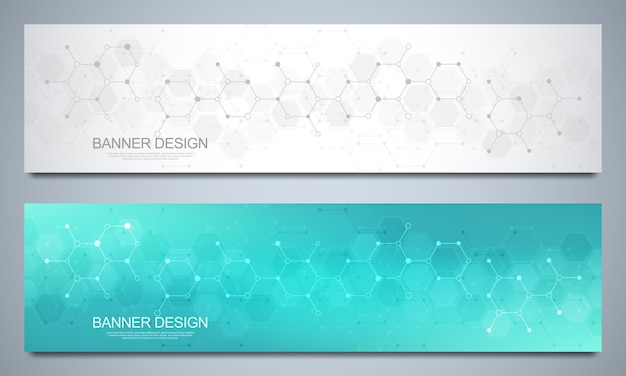 Banner design templates and headers for site