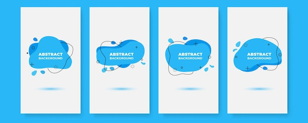 Banner design templates in simple modern style with copy space