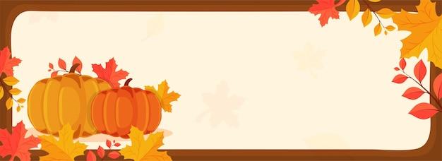 Banner design for thanksgiving day celebration.