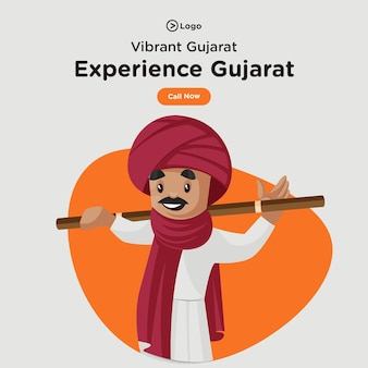 Banner design of visit and experience gujarat