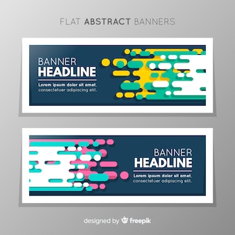 Banner design with abstract geometric shapes