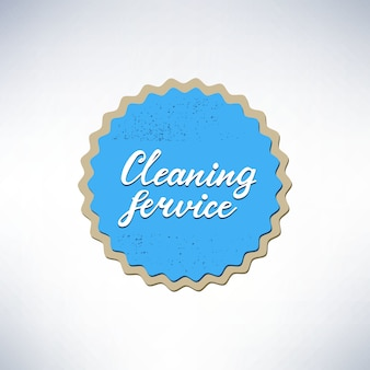 Banner design with lettering cleaning service. vector illustration.