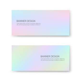 Banner design with pastel colors