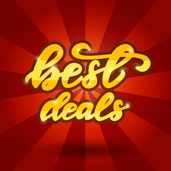 Banner design with a phrase best deals