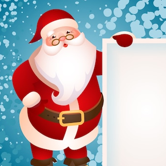 Banner design with santa claus
