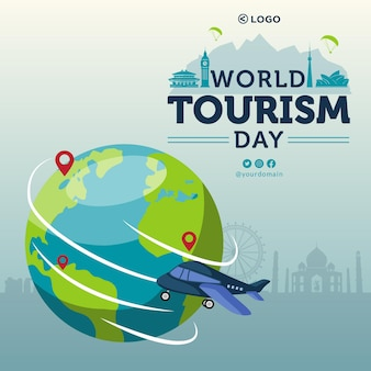 Banner design of world tourism day template