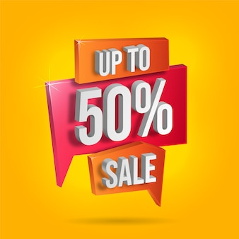 Banner of discount with promotion details