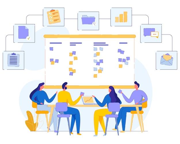Banner distribution tasks between team cartoon