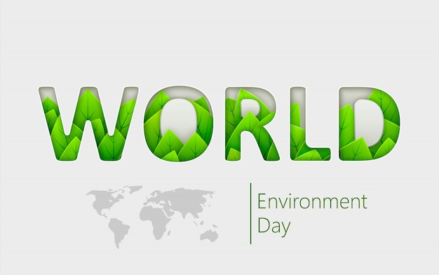 Banner of ecology, environment, green technology