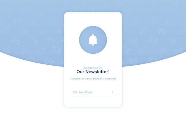 Banner of email marketing for subscription to newsletter