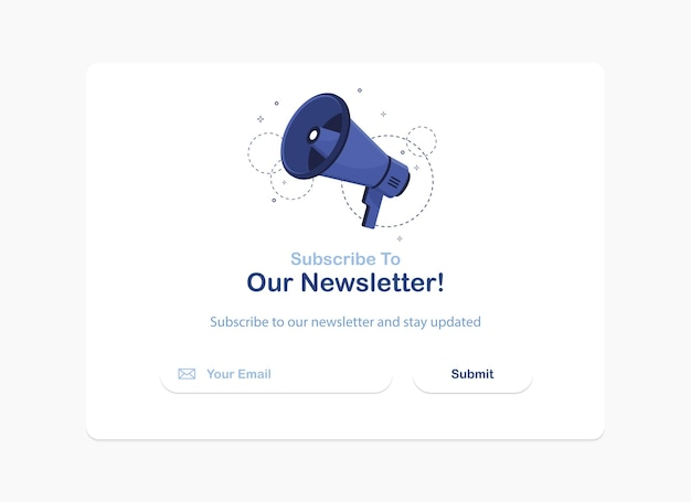 Banner of an email marketing for subscription to newsletter