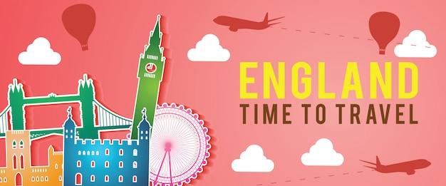 Banner of england famous landmark