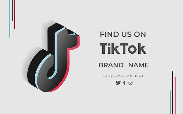 Banner find us tiktok