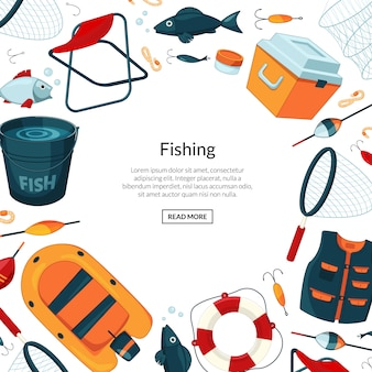 Banner of fishing equipment