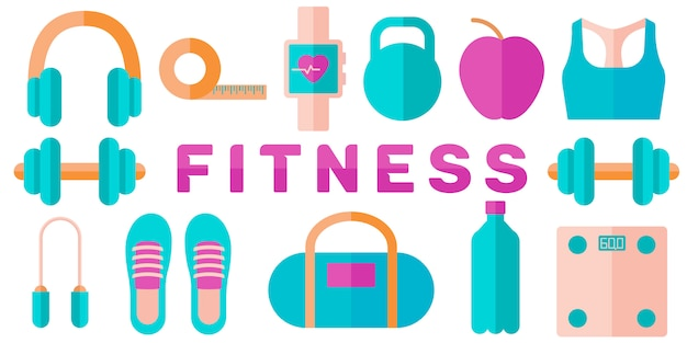 Banner of fitness concept