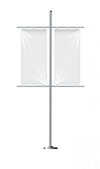 Banner flag templates, set of vector advertising flags.