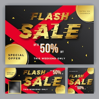 Banner flash sale template