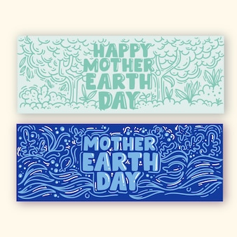 Banner flat mother earth day