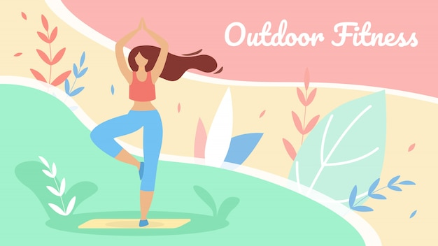 Banner flat productive outdoor fitness lettering