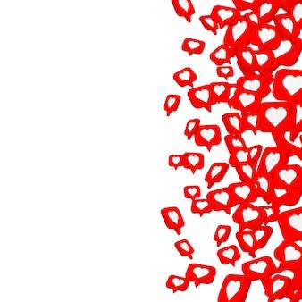 Banner fly like social network. white background. vector illustration