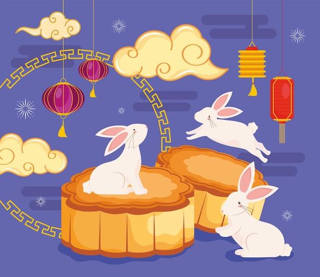 中国のお祭りのバナー