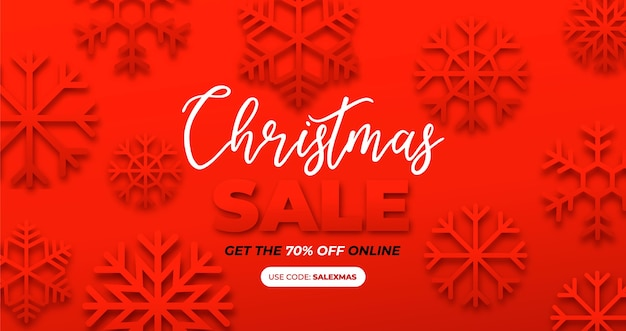 クリスマスの紙の効果のバナー