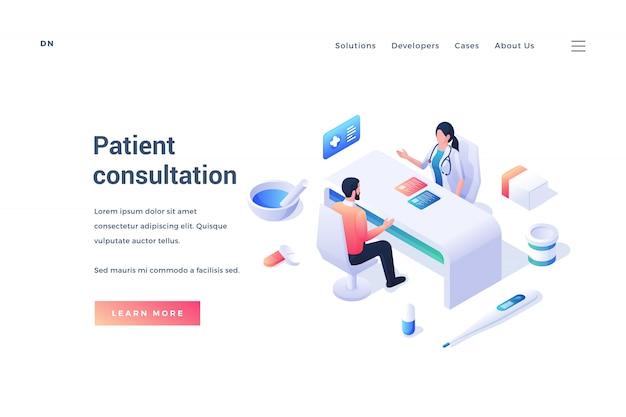 Баннер для обслуживания врачей и консультаций пациентов