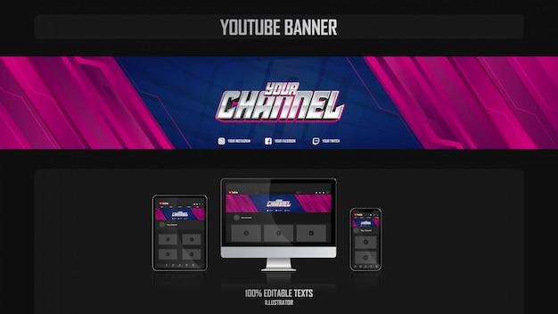 음악 컨셉 소셜 미디어 채널 배너