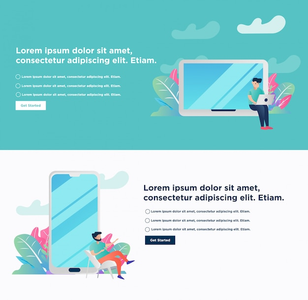 Banner. freelance concept remote working