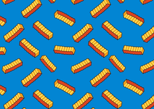 Banner french fries retro
