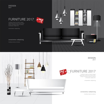 Banner furniture sale design template set
