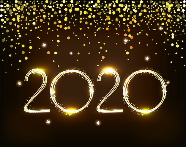 Banner of happy new year 2020