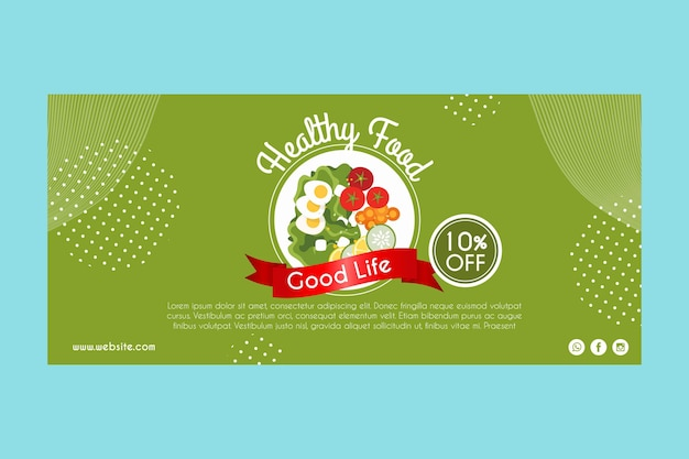 Banner for healthy food